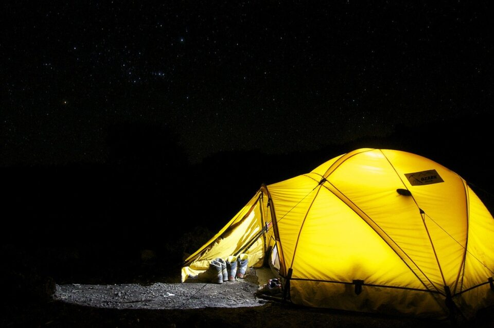 tent, camp, night
