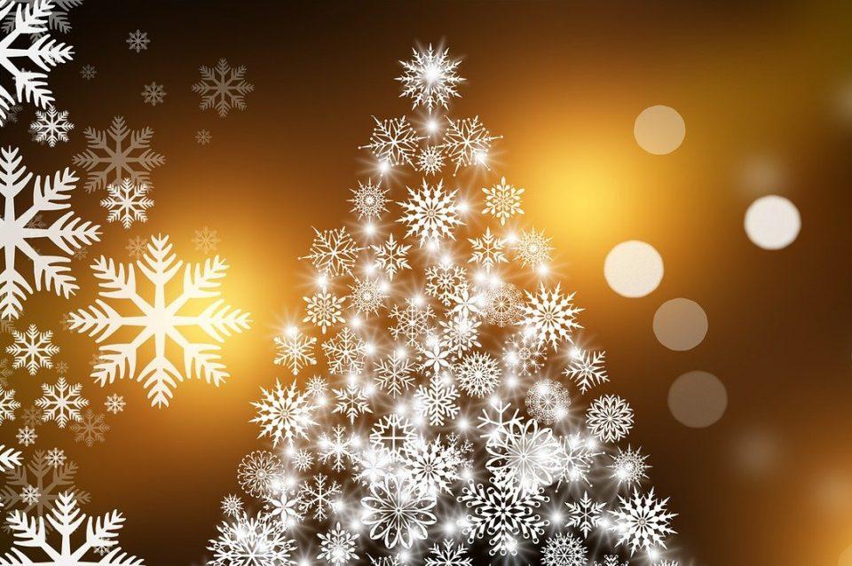 christmas card, christmas, christmas tree